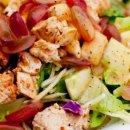 Salada de frango com iogurte