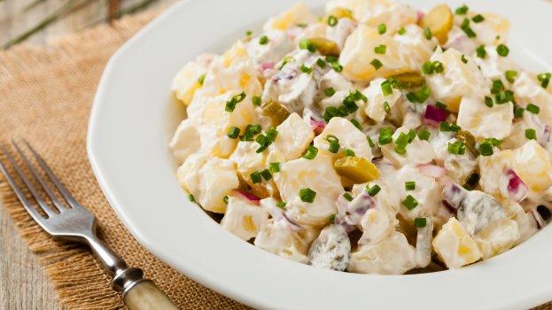 Batatas com Atum ao Molho de Iogurte