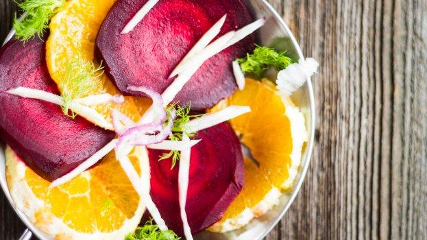 Salada de beterraba e laranja