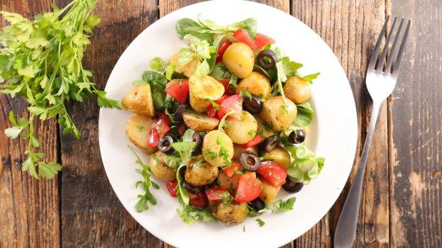 Batatas com ervas aromáticas
