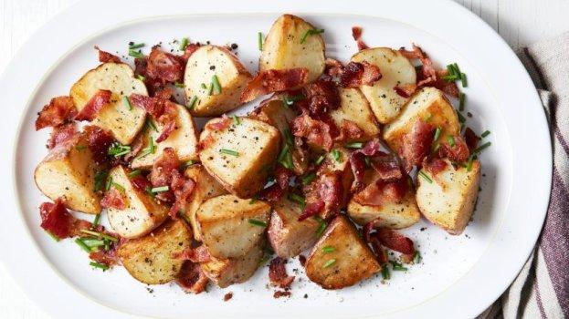 Batatas Risolet ao Alho e Bacon