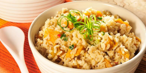 Risoto de arroz integral com abóbora