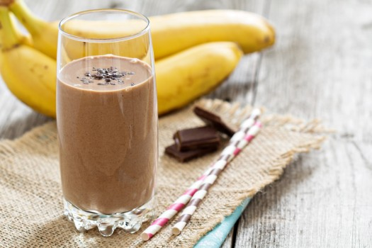 Vitamina de Banana com Chocolate
