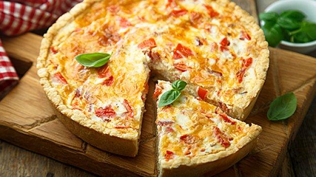 Torta Proteica de Batata Doce com Presunto e Queijo