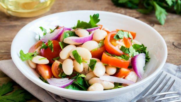 Salada de Feijão Branco com Atum