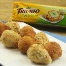 Coxinha de Frango com biscoito Cream Cracker
