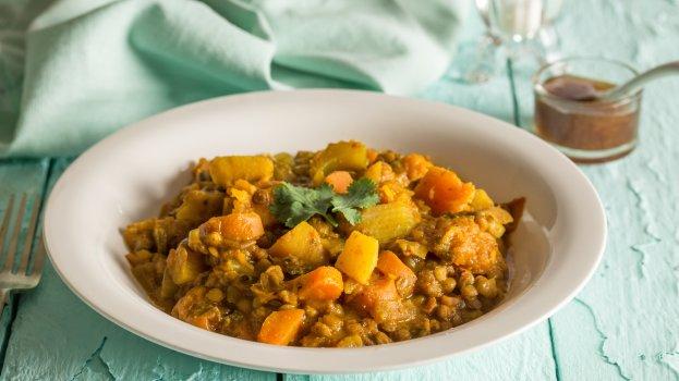 Curry de Lentilha e Frango