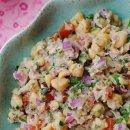 Salada de Grão de Bico com Atum