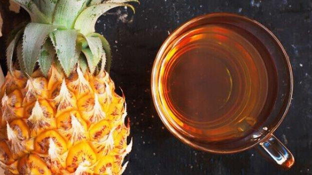 Chá Emagrecedor de Abacaxi e Gengibre
