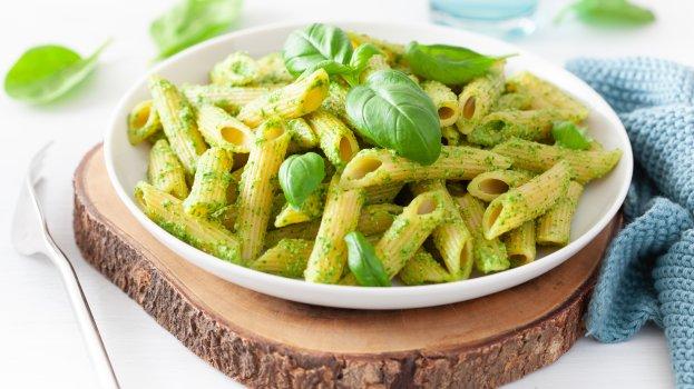 Espaguete com Pesto de Espinafre