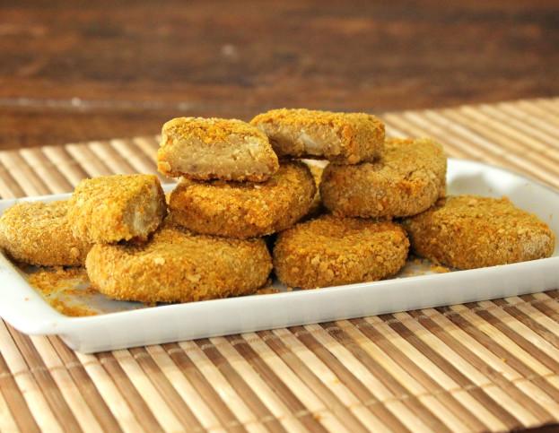 Nuggets Veganos com Grão de Bico