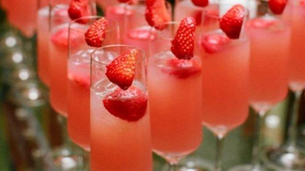 Champagne com Morango