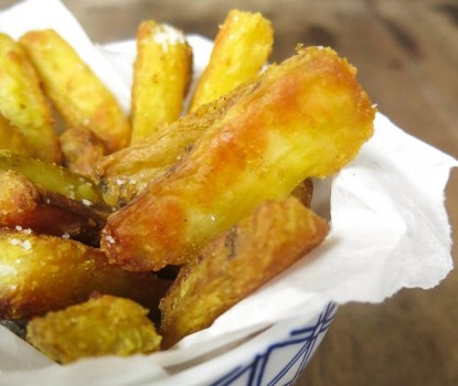 Batata Doce Crocante com Curry
