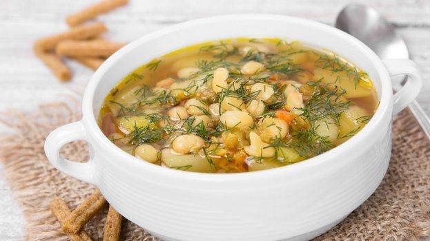 Sopa de Feijão Branco e Alho-Poró