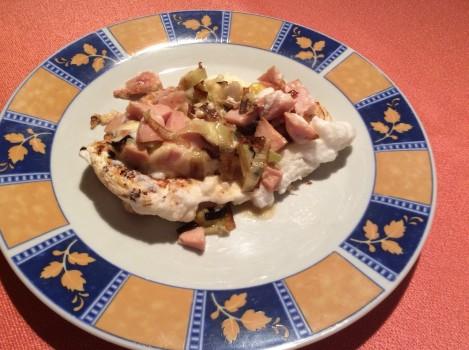Omelete de claras e alho poró