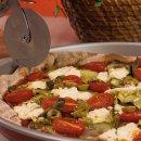 Pizza Integral de Abobrinha Assada e Cottage