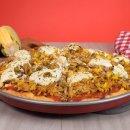 Pizza Integral de Aveia com Frango e Ricota