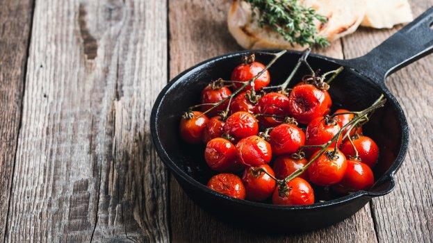 Frigideira de Tomate Cereja Low Carb