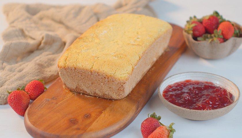 Pão de Fubá Sem Glúten e Sem Lactose