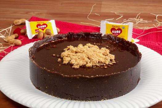 Torta de Chocolate com Paçoca Amor