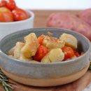 Nhoque Vegano de Batata Doce com Tomatinhos Assados