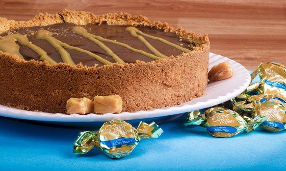 Torta de Butter Toffees e Chocolate