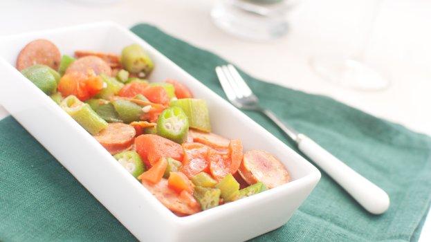 Quiabo com Tomate