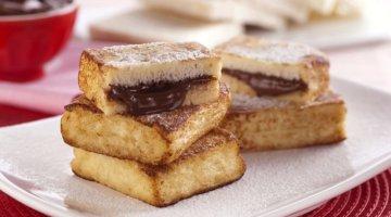 Rabanada com Nutella
