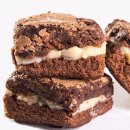 Brownie Recheado de Brigadeiro Branco