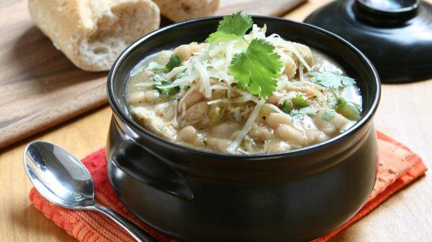 Sopa de Feijão Branco com Frango