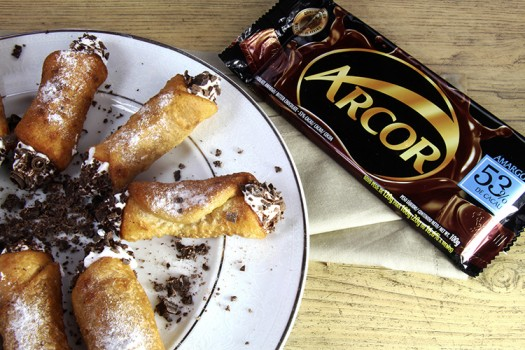 Cannoli de Nata com Chocolate Meio Amargo Arcor | CyberCook