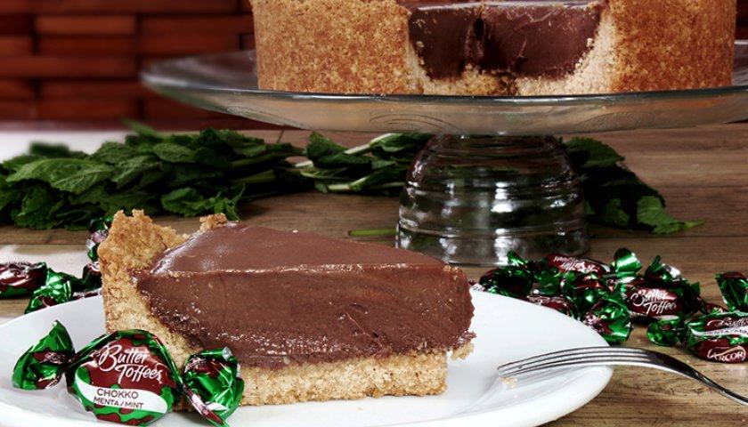 Cheesecake de Chocolate e Menta
