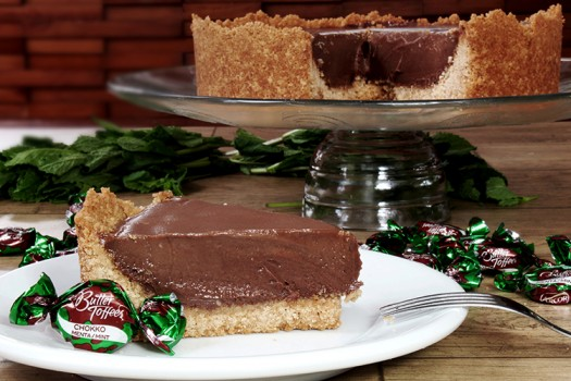 Cheesecake de Choco Menta com Butter Toffees