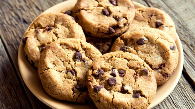 Cookies sem Glúten com Gotas de Chocolate