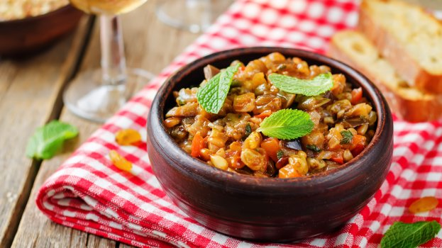 Salada de Berinjela com Maçã