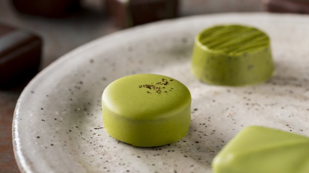Bombons de Chocolate Branco e Chá Verde