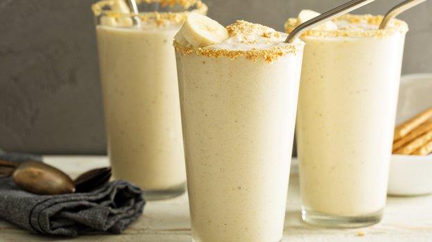 Milk Shake de Banana com Cookies sem Açúcar
