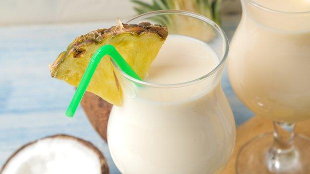 Drink Sem Álcool de Abacaxi com Coco