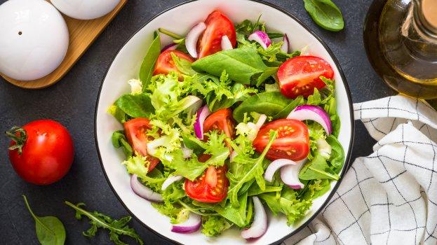 Salada de Rúcula com Tomate e Alface