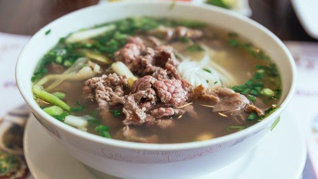 Sopa de Inhame com Carne
