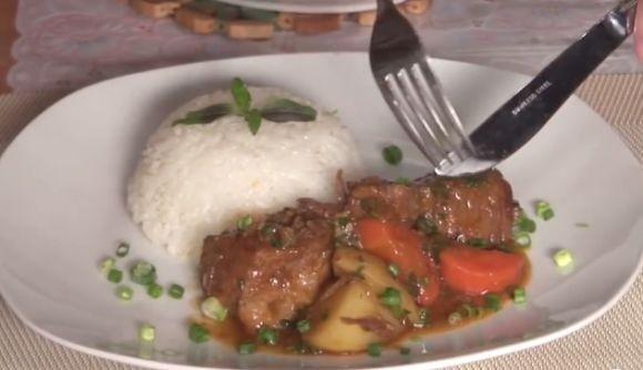 Carne de Panela com Batatas e Cenoura na Pressão