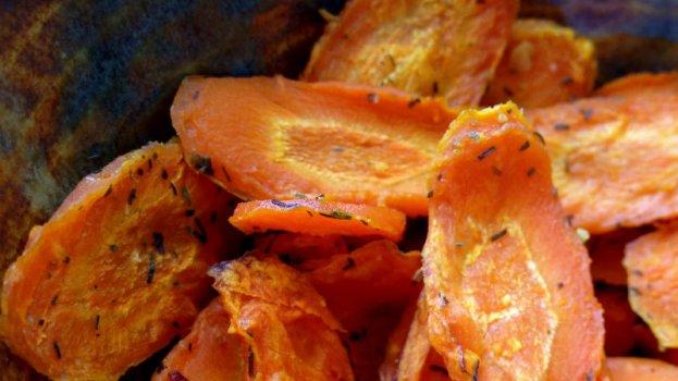 Chips de Cenoura na Air Fryer