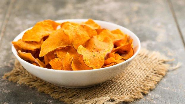 Chips de Batata Doce na Air Fryer