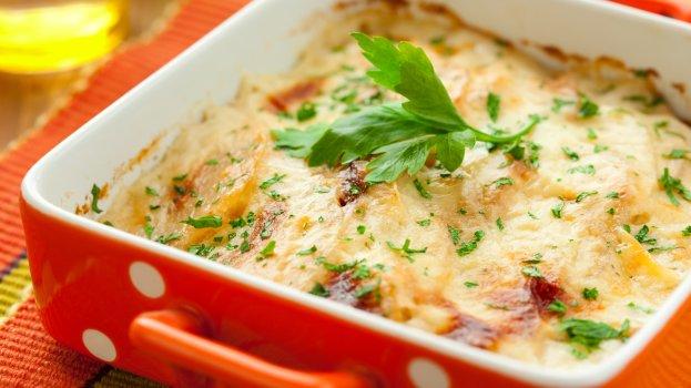 Batata Gratinada com Vegetais