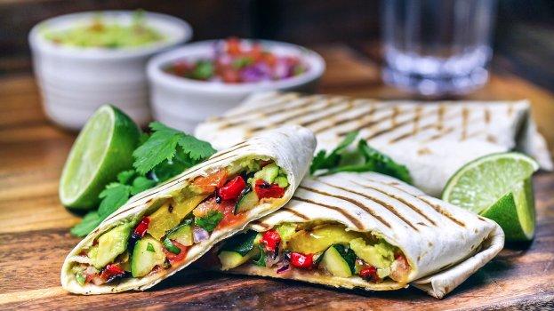 Wrap Vegetariano de Legumes Refogados