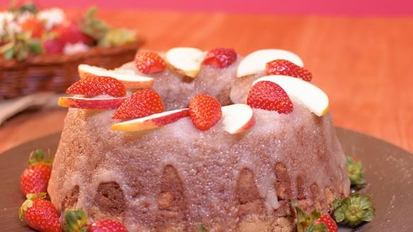 Bolo de Frutas com Chocolate