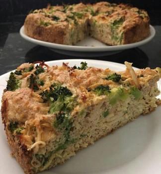 Torta Light de Brócolis e Frango