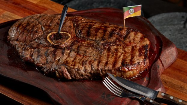 Capitão Steak na Churrasqueira com Salsa Picante