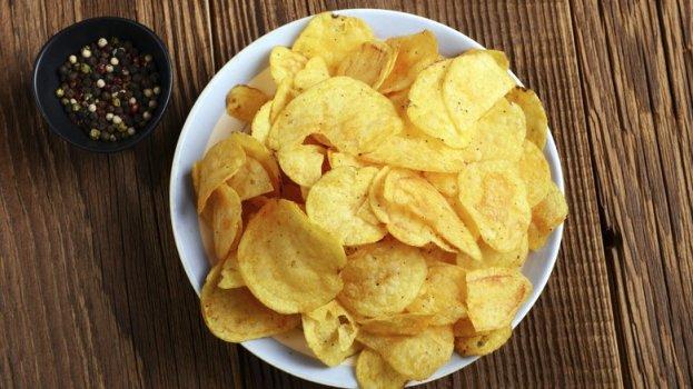 Chips de Batata no Microondas