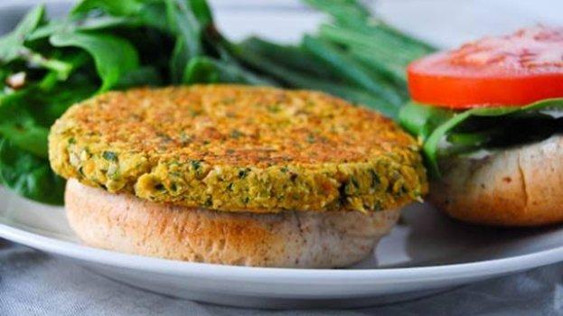 Hambúrguer Vegetariano de Grão de Bico